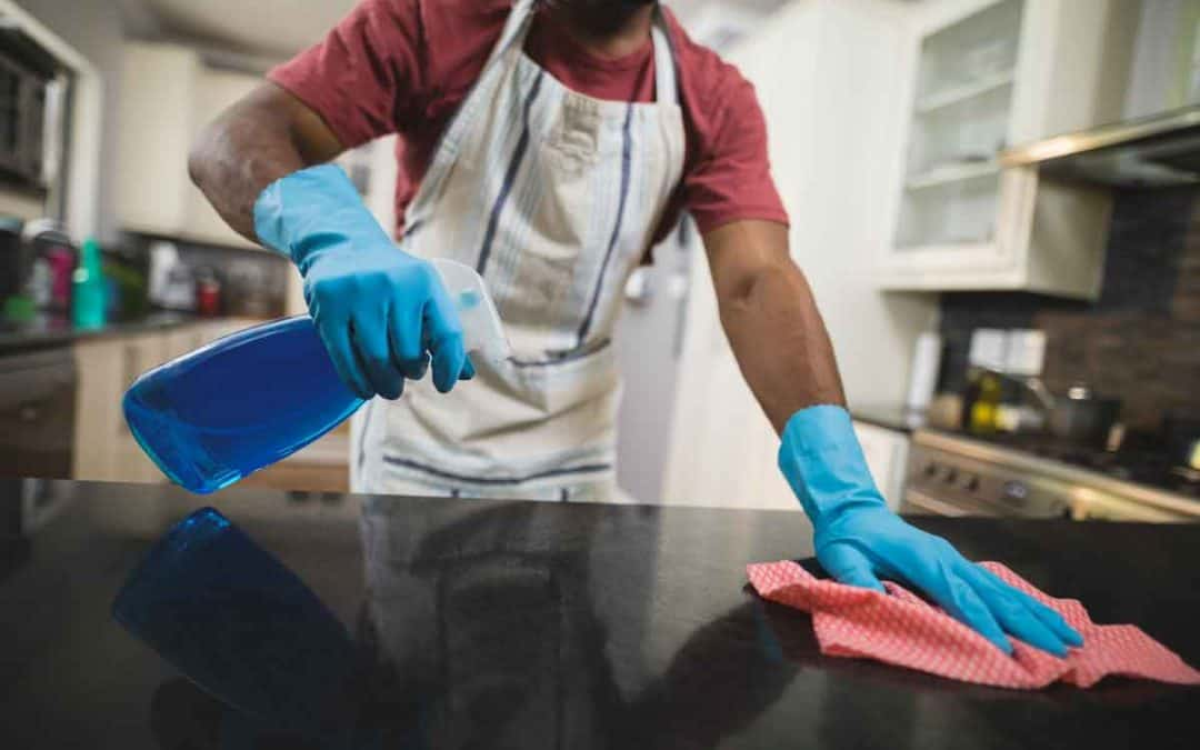 get stains out of marble countertops