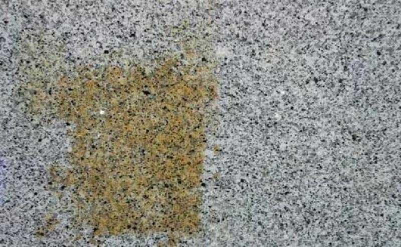 rust stain granite