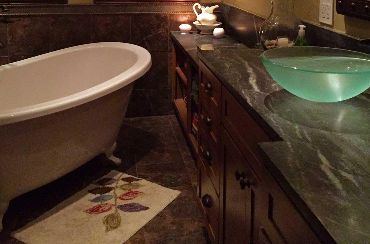 stone bathroom counter